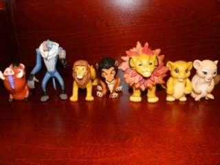 Lion King Simba Nala Pumbaa Scar Rafiki Monkey Figure LOT Disney Baby