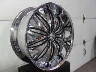 Wheel + Tire Packages 22 inch Triple chrome rims V820