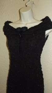 20s flapper style elegant black dress  Carole Little size 4