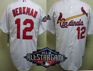 Lance Berkman 2011 All Star Patch St. Louis Cardinals Home Jersey