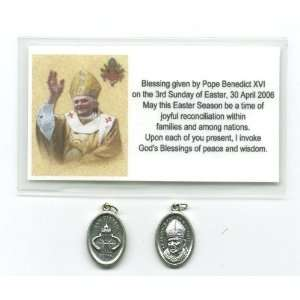 Blessed Pope John Paul II and St Peters Medal Blessed by