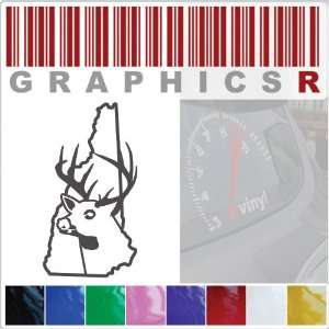 Sticker Decal Graphic   Deer Buck Deer Head Hunt Hunting