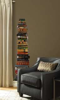 Die Cut BOOK STACKS APPLIQUE STICKER Wallpaper Mural