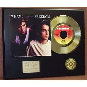 Record Outlet WHAM 24kt Gold Record Display LTD