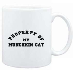 Mug White  PROPERTY OF MY Munchkin  Cats