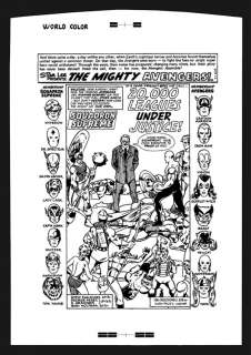 Jack Kirby Avengers #148 Rare Large Production Art Pg 1