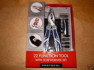 Protocol Design Deluxe 22 Multifunction Stainless Steel Tool Blue