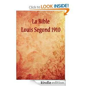 La Bible Louis Segond 1910 LSG Jesus  Kindle Store