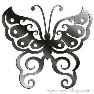 Butterfly Flexi Mirror Adhesive Wall Art Sticker 7.5 x 8