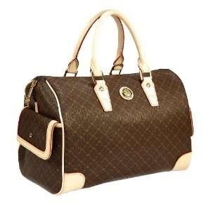 Signature Brown Large Boston Bag By Rioni Designer Handbags & Luggage