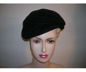 SUZANNE black felt structured hat.Front has folded look.REALLY