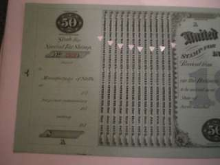 TAX STAMP CERTIFICATE. GREAT CONDITION. SERIAL NUMBER IS DIFFERENT