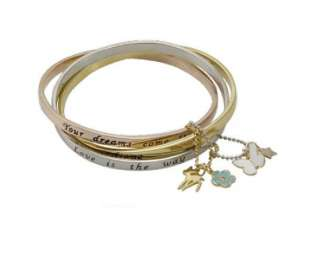 NEW! Disney Couture Icon Bambi Interlocking Mixed Metal Bangle