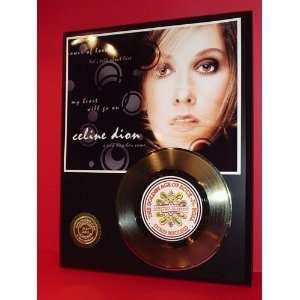 Gold Record Outlet Celine Dion 24kt Gold Record Display