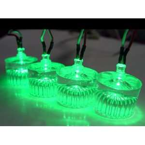 Logisys Acrylic Green LED Case Feet Electronics