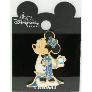Disney Minnie Mouse Birthday Birthstone Tac Pin ~ March