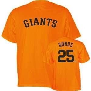 Barry Bonds Orange Majestic Name and Number San Francisco