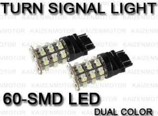 7443 7444NA Switchback 60 SMD LED Signal Light Bulb #67
