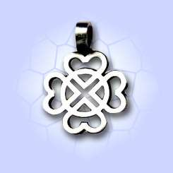WS246 The Love of God Symbol Silver Pewter Pendant