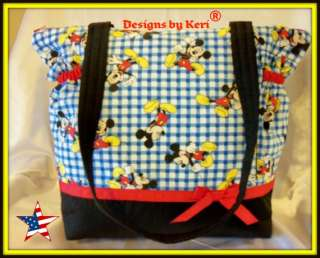 Designs by Keri Mickey Mouse Duffle Diaper Bag tote