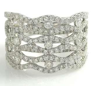 33 Ct Round Diamonds Wedding BAND RING 14K White Gold