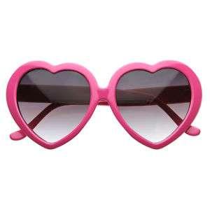 Womens Love Sweet Heart Shaped Sunglasses 8182 Pink New