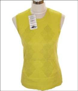 BNWT WOMENS OAKLEY FORE SWEATER VEST TANK TOP SMALL NEW YELLOW