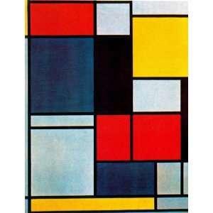 Piet Mondrian   24 x 32 inches   Cuadro II: Home & Kitchen