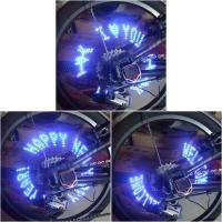 Tire Valve Cap Light Gas mouth lamp Wheel Lights Blue Light 7 LED for