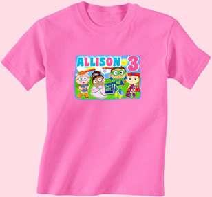 Super Why SuperWhy Custom Birthday Shirt