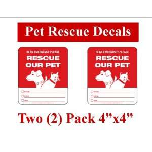 Fire Disaster Safety Rescue Decals   Save our Pet