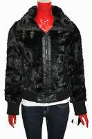 Womens Baby Phat Faux Fur Bomber Jacket