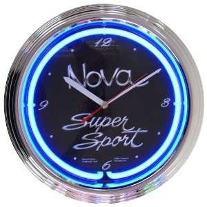 Cars and Motorcycles Nova Super Sport Neon Clock
