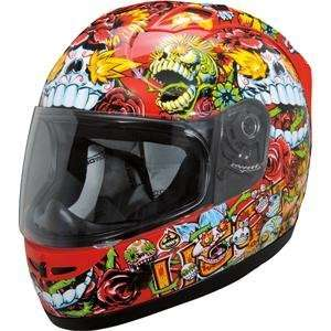 Icon Alliance SSR Dia De Los Muertos Helmet   Large/Red