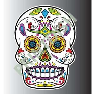 Sugar skull 1 1 sticker vinyl decal 3 x 2.2