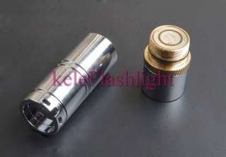 Mini Stainless steel CREE XR E Q2 LED CR123A Flashlight