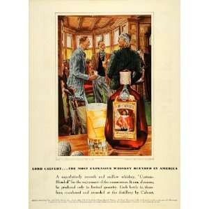 1939 Ad Lord Calvert Whiskey Soda Club Leslie Saalburg