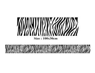 DIY Home Décor Zebra Strip PVC Wall Decal Stickers (Black) #YDSHJP67B