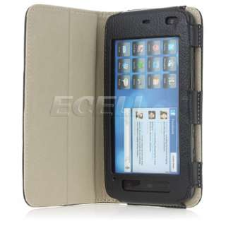 LUXURY BLACK LEATHER CASE COVER & STAND FOR DELL STREAK