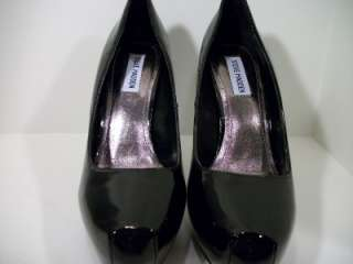 New $90 Steve Madden RUSSHH Black Patent Leather Shoes US 10 Womens