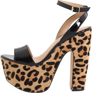 Womens Shoes NIB Steve Madden SHAZZAM Platform Heels Sandal Leopard