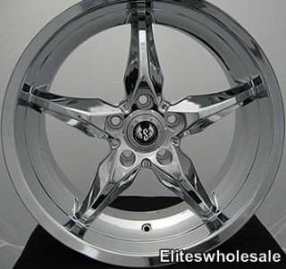 18x8.5 Chrome Wheels Rims stern st6 5x108