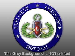 Round EOD Explosive Ordnance Seal Sticker   decal logo