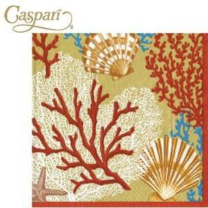 Caspari Paper Napkins 10650C Palm Beach Gold Cocktail