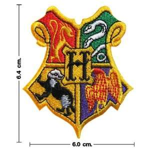 Harry Potter Hogwarts School Crest Iron on Patch From