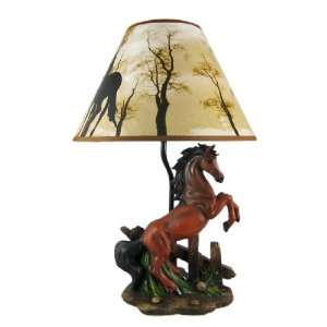 BROWN 0 19.5 Stallions (Horse Lamp): Home Improvement