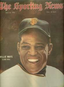 70 Sporting News SAN FRANCISCO Giants WILLIE MAYS #3000