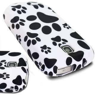 WHITE PAWS FOOTPRINT SILICONE GEL SOT FOR SAMSUNG GALAXY MINI S5570