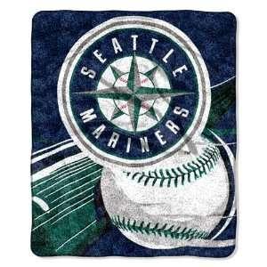 Seattle Mariners Super Soft Sherpa Blanket Sports