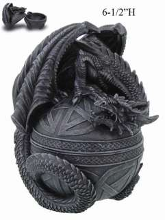 CELTIC MEDIEVAL DRAGON EGG SHAPE JEWELRY BOX.DECOR.NEW